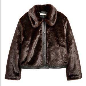 faux fur jacket h&m